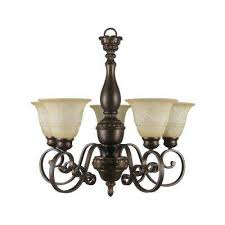 carina 5 light aged bronze chandelier with tea stained glass shade