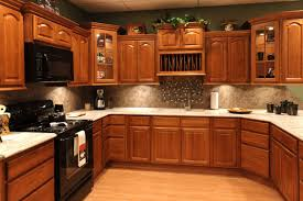 White Showing Chic White Cabinets Stainless Steel Hanging Bar Red ...
