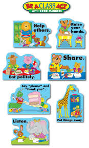 bulletin board set good manners cd  good manners bulletin board set view larger