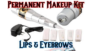 new permanent makeup tattoo eyebrow pen machine 50 needles tips silver c 77