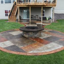 concrete patio with square fire pit. Exellent Fire Fire Pits Design  Amazing Concrete Patio With Square Pit Within  Ideas In L