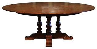 54 to 70 round to round solid walnut dining table with leaves