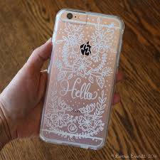 personalize your clear phone case using oil based sharpie markers lorrie everitt studio