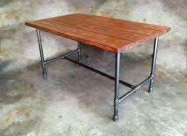 Galvanized Pipe Desk Industrial Table Legs Carlislerccar Club Furniture: ...