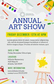 Art Event Flyer Diy Printable School Art Show Flyer Template Word Flyer