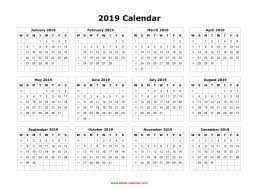 Blamk Calendar Blank Calendar 2019 Free Download Calendar Templates