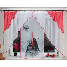 children s voile curtains ready made red star wars