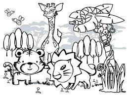 Wild Animal Colouring Pages Trustbanksurinamecom