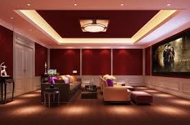 luxury home lighting. Mesmerizing Red Home Theater Designs With Gray Fabric Upholstered Luxury Lighting Designer H