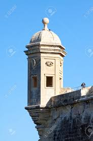 Lookout Tower Plans Old Lookout Tower In Saint Michaelat Fort Malta Stock Photo