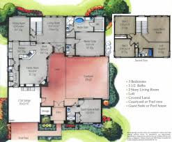 u shaped house plans. Pool Large-size U Shaped House Plans On Home With Unique Floor Plan In