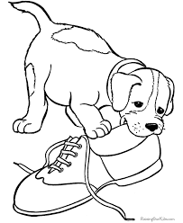 Merry Christmas Dog Coloring Pages For Kids - creativeinfotech.info