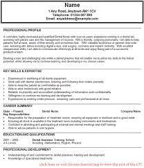 Dental Nurse Assistant Cv Example Learnist Org