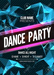 Part Flyer Modern Club Music Party Template Dance Party Flyer Brochure