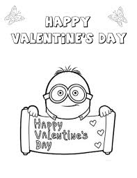 Small Picture Minion Valentines Heart Coloring Page H M Coloring Pages