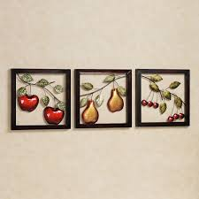 vintage fruit metal wall art