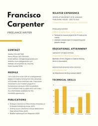 Scholarship Resume New Customize 40 Scholarship Resume Templates Online Canva