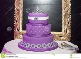 Sweet Sixteen Birthday Cake On A Cake Stand Stock Image Image Of