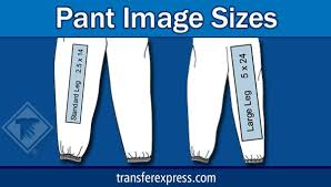 Sizing Chart With Common Pant Leg Design Image Sizes Learn