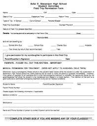 School Field Trip Permission Form Template 48 Printable Student Permission Slip Template Forms