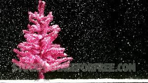 Free Pink Christmas Tree in Snowfall Winter Seasonal Stock Video - YouTube