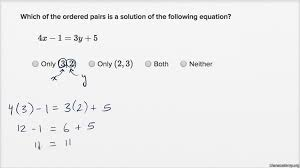 solutions to 2 variable equations substitution old khan academy
