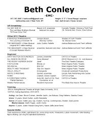 beth conley actor singer dancer resume my headshot and resume pdf