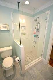 half wall shower glass walls creative bathrooms with block pictures
