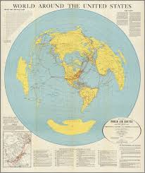 United States Map Of The World World Around The United States Map Of Proposed World Air Routes