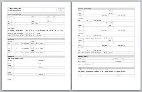 Generic Employment Application Form Employment Application Template Employment Application Form