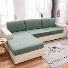 plain color stretch sofa seat