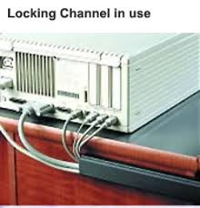 cable raceway wire channel j channel locking channel locking channel in use on computer desk icon ‹ › ‹ ›