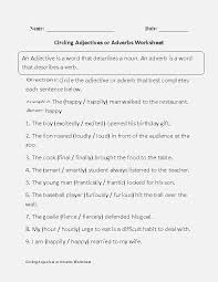Adjectives or Adverbs Worksheet – dailypoll.co