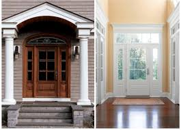 Front Raised Entry Front Door Entrance Doors Replacement - Exterior door glass replacement