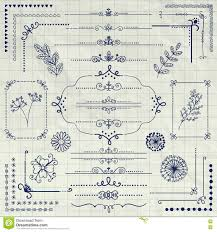page rustic elements. Interesting Elements Vector Pen Drawing Rustic Design Elements Dividers In Page Rustic Elements V