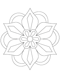 Appealing Easy Flower Coloring Pages Easy Flower Coloring Pages Easy