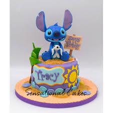 Stitch Summer Feel Beach Design 3d Custom Birthday Cake
