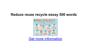 reduce reuse recycle essay words google docs