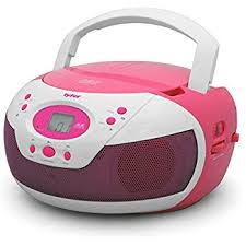 Tyler Portable Neon Pink Stereo CD Player with AM/FM Radio and Aux \u0026 Headphone Jack Line-In (TAU105-NPK) Amazon.com: Sylvania SRCD243