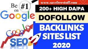 200+ High DA/PA Do Follow Backlinks Sites List 2020 | Instant Approval