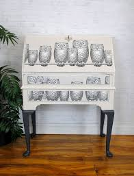 decoupage ideas for furniture. upcycled vintage bureau desk with fornasetti u0027nottambuleu0027 owl decoupage furnituredecoupage ideasupcycled ideas for furniture