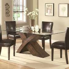 dining room black plywood chair with back modern rectangular glass table design idea 7 brown full