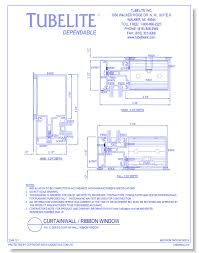 dwg400 ig series curtainwall ribbon window