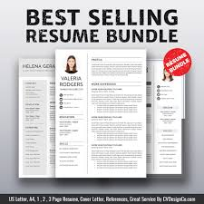 Creative Word Resume Templates Professional Resume Template Bundle Cv Bundle 1 3 Page Resume