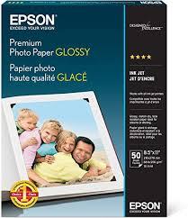 <b>Epson</b> Premium Photo <b>Paper Glossy</b> (8.5x11 Inches, 50 Sheets ...