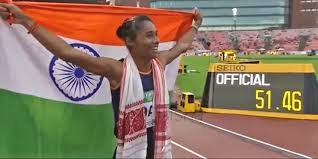 The former is the fastest woman in india and the. With A Gamosa And The Indian Flag On Her Shoulders Hima Das Becomes India S First World Gold Medallist On Glo