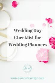 Wedding Coordinator Checklist Wedding Day Checklist For Wedding Planners