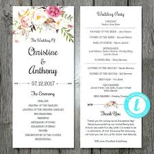 Free Wedding Menu Templates For Word Full Size Of Download With