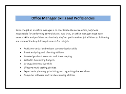 office manager sample job description office manager resume sample pdf