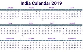 Calendar 2019 Printable With Holidays Calendar 2019 Printable India With Free Printable Calendar 2019 With